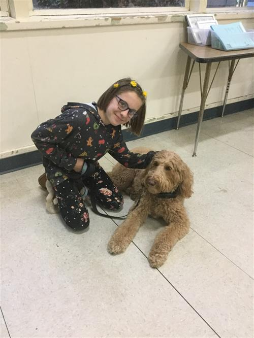 5th Grader Grace Bosse and Grace the Reading Dog!
