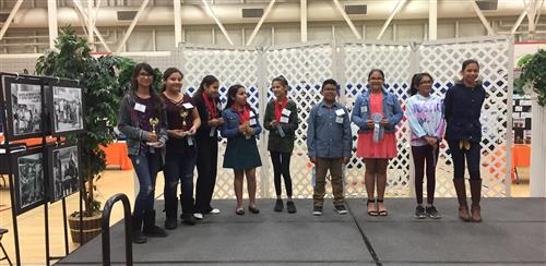 Roosevelt Science fair winners, 1st, 2nd, and Honorable Mention