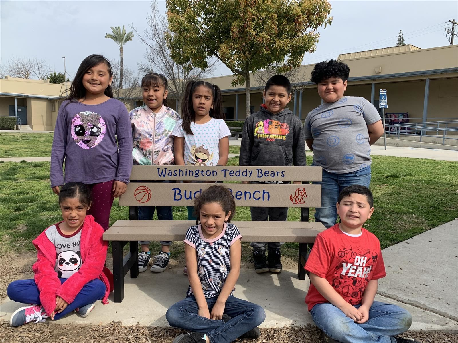Buddy Bench with Students