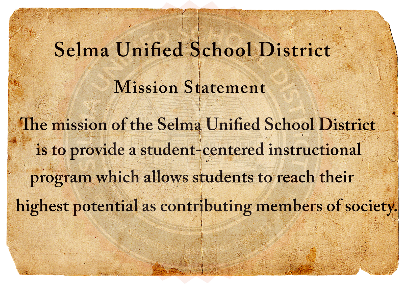 SUSD Mission and Vision