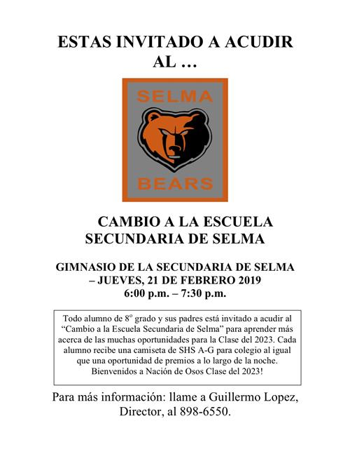 Spanish version of same flyer.