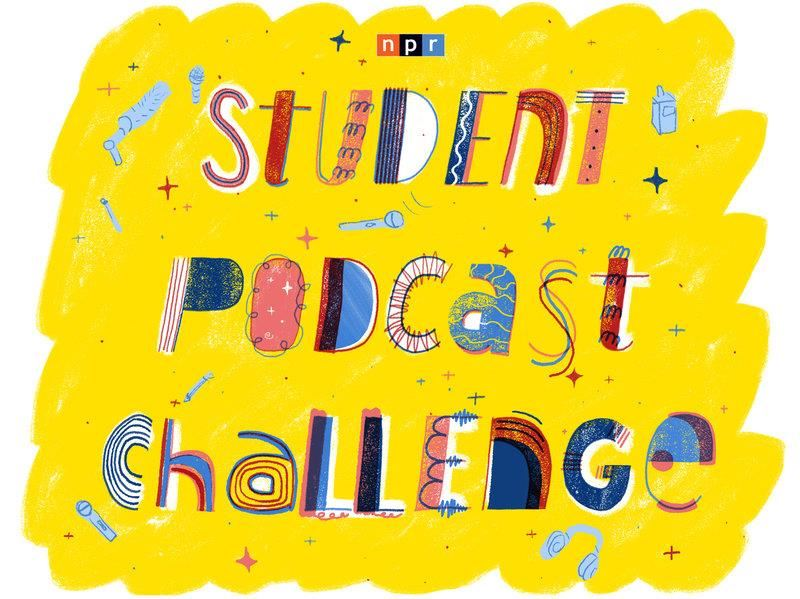 NPR Student Voice Podcast Yellow logo
